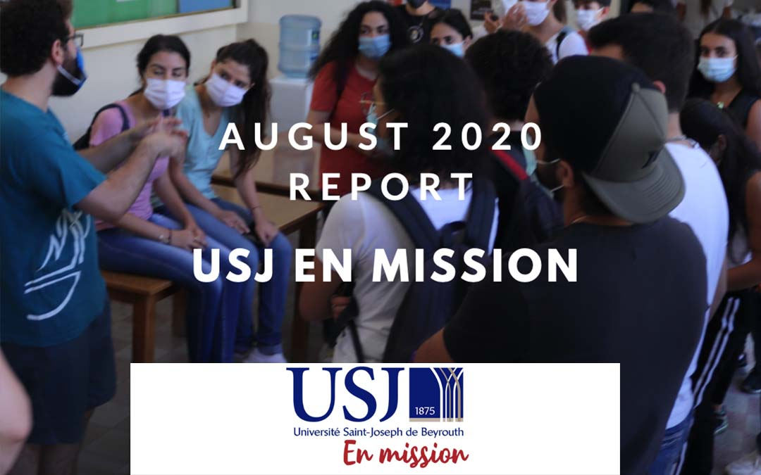 Report of activities from USJ in August 2020